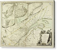 A New Map Of The Province Of Quebec Acrylic Print by British Library