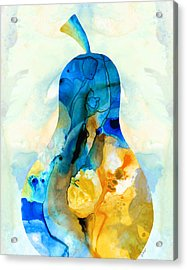 A Nice Pear - Abstract Art By Sharon Cummings Acrylic Print by Sharon Cummings