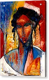 A Nubian Lady Acrylic Print by William Tolliver