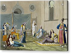 A Persian Harem, From Le Costume Ancien Acrylic Print by G. Bramati