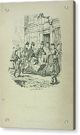 A Pickpocket In Custody Acrylic Print by British Library