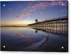 A Pink Low Tide Acrylic Print by Sean Foster