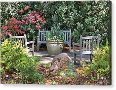 A Quiet Place To Meet Acrylic Print by Gordon Elwell