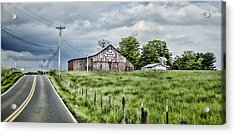 A Quilted Barn Acrylic Print by Heather Applegate