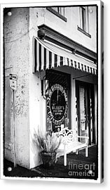 A Real Barber Shop Acrylic Print by John Rizzuto
