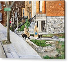 A Rest On Summerhill Avenue Acrylic Print by Reb Frost