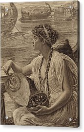 A Roman Boat Race Acrylic Print by English School