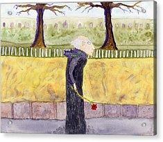 A Rose For My Dear Acrylic Print by Jim Taylor