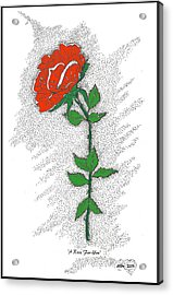 A Rose For You Acrylic Print by Glenn McCarthy Art and Photography