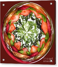 A Round Of Fresh Fruit Salad Acrylic Print by Anne Gilbert