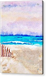 A Sand Filled Beach Acrylic Print by Chrisann Ellis