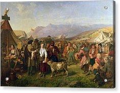A Scottish Fair Acrylic Print by John Phillip