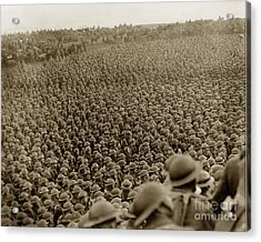 A Sea Of Helmets World War One 1918 Acrylic Print by California Views Mr Pat Hathaway Archives