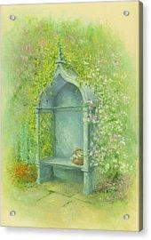 A Seat In The Garden Acrylic Print by Garry Walton