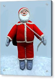 A Simple Santa Acrylic Print by David Wiles