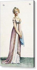 A Simply Designed Ladys Ball Dress Acrylic Print by Pierre de La Mesangere
