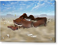 A Slow Death In Piano Valley Acrylic Print by Mike McGlothlen