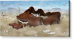 A Slow Death In Piano Valley - Panoramic Acrylic Print by Mike McGlothlen