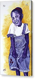 A Smile For You From Haiti Acrylic Print by Margaret Bobb