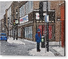A Snowy Day On Wellington Acrylic Print by Reb Frost