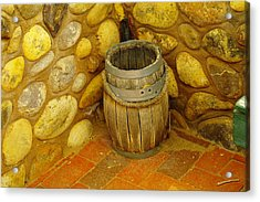 A Sole Barrel Acrylic Print by Jeff Swan