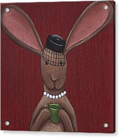 A Sophisticated Bunny Acrylic Print by Christy Beckwith
