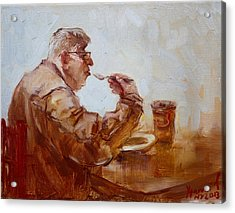A Soupe Break At Tim Hortons Acrylic Print by Ylli Haruni