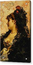 A Spanish Beauty Acrylic Print by Frederik Hendrik Kaemmerer