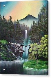 A Special Mountain Spot Acrylic Print by Lee Bowman