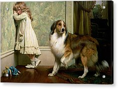 A Special Pleader Acrylic Print by Charles Burton Barber
