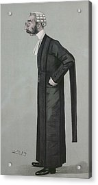A Sporting Lawyer, Form Vanity Fair, 17th March 1898 Colour Litho Acrylic Print by Leslie Mathew Ward