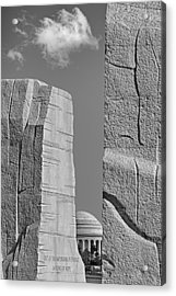 A Stone Of Hope Bw Acrylic Print by Susan Candelario