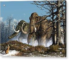 A Storm Of Mammoths  Acrylic Print by Daniel Eskridge