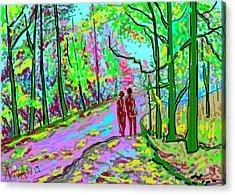 A Street Scene-2 Acrylic Print by Anand Swaroop Manchiraju