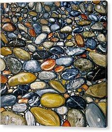 A Stroll Along The Beach Acrylic Print by Heather Matthews