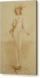 A Study For The Birth Of Love Acrylic Print by Solomon Joseph Solomon
