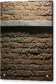 A Study In Brick Acrylic Print by Guy Ricketts