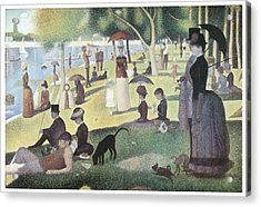 A Sunday Afternoon On The Island Of La Grande Jatte Acrylic Print by George-Pierre Seurat