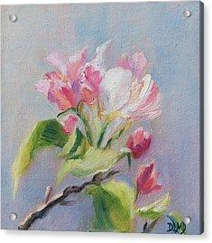 A Sweet Scent Acrylic Print by Debbie Lamey-MacDonald