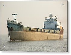 A Tanker In The Sunderbans Acrylic Print by Ashley Cooper