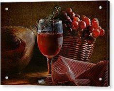 A Taste Of The Grape Acrylic Print by David and Carol Kelly
