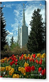 A Temple To Our God Acrylic Print by Nick  Boren