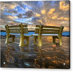 A Time For Reflection Acrylic Print by Debra and Dave Vanderlaan
