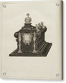 A Tomb Or Casket With A Bust Or Statue Acrylic Print by British Library