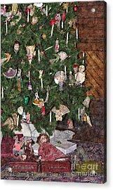 A Train Set For Christmas  Acrylic Print by Liane Wright