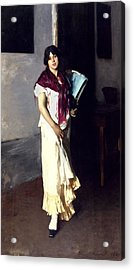 A Venetian Woman, 1882 Oil On Canvas Acrylic Print by John Singer Sargent