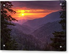 A View At Sunset Acrylic Print by Andrew Soundarajan