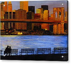 A View From Brookklyn Acrylic Print by Stuart B Yaeger