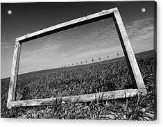 A View Through The Window Acrylic Print by Marcin Delektowski