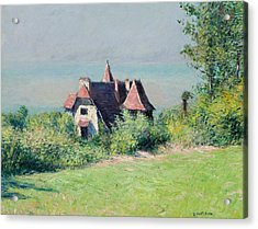 A Villa At Trouville Acrylic Print by Gustave Caillebotte